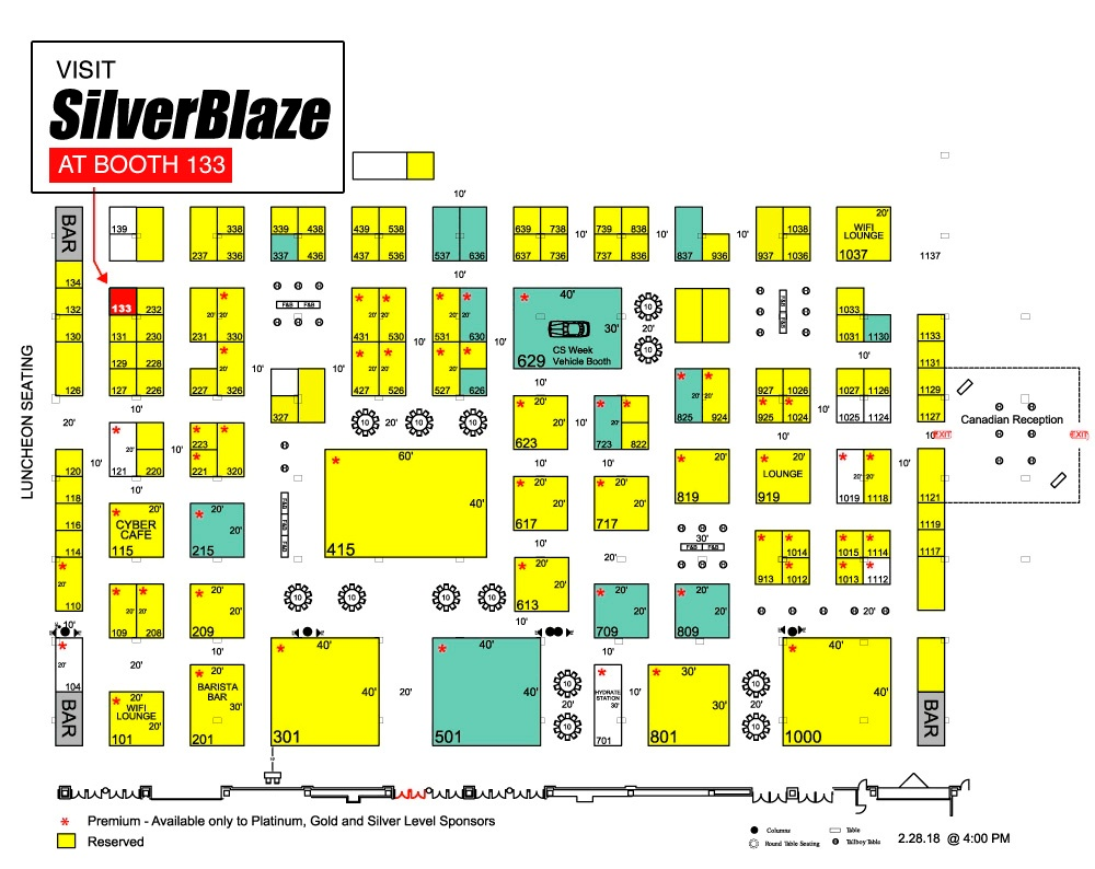 CSWeek Map SilverBlaze Booth 133