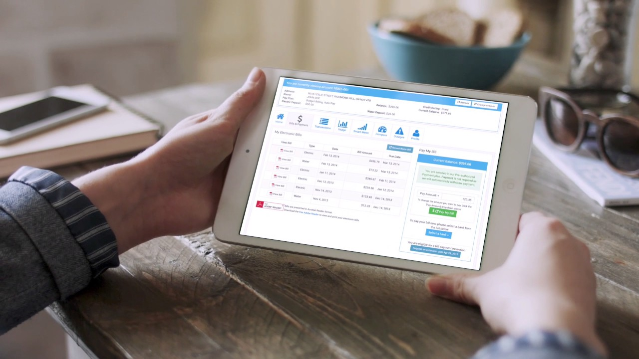 Capricorn Customer Portal for Utilities - Billing and Payments